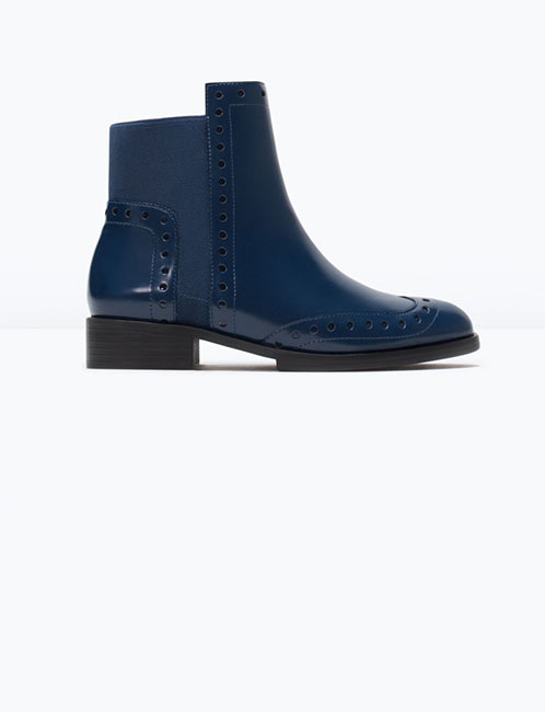 Zara - Bottines perforées