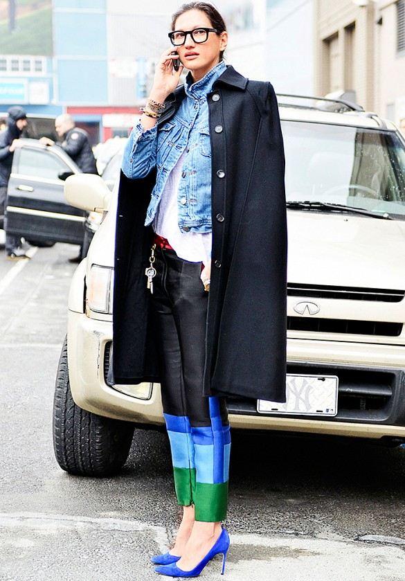 Comment porter sa veste en jean en hiver ?