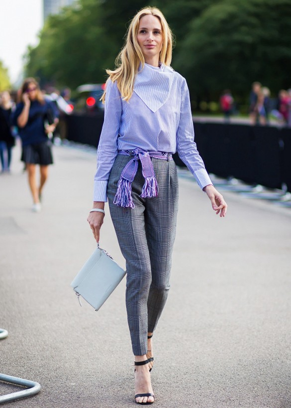tailored pants street style