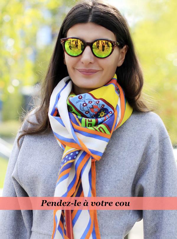 comment porter le foulard