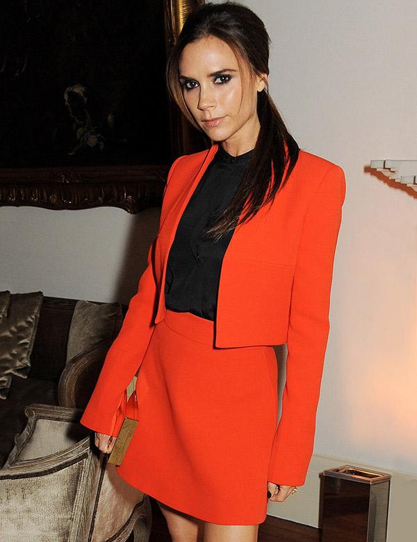 Victoria Beckham orange suit