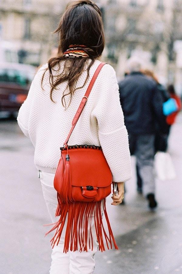 Street Style fringe color bag sac