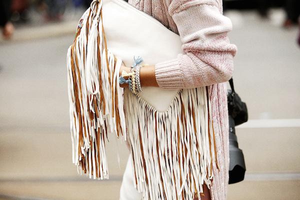 Street Style fringe bag sac
