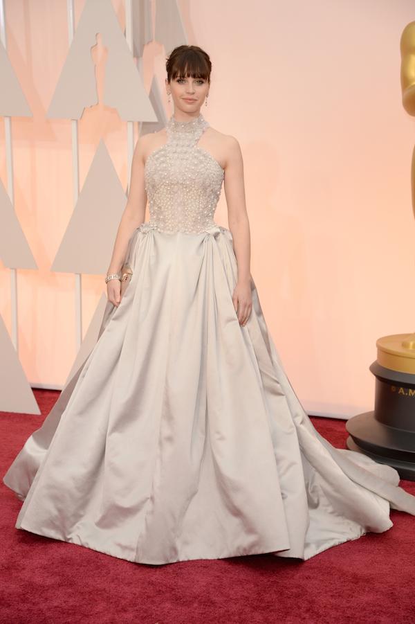 Felicity-jones-alexander-mcqueen Oscars 2015