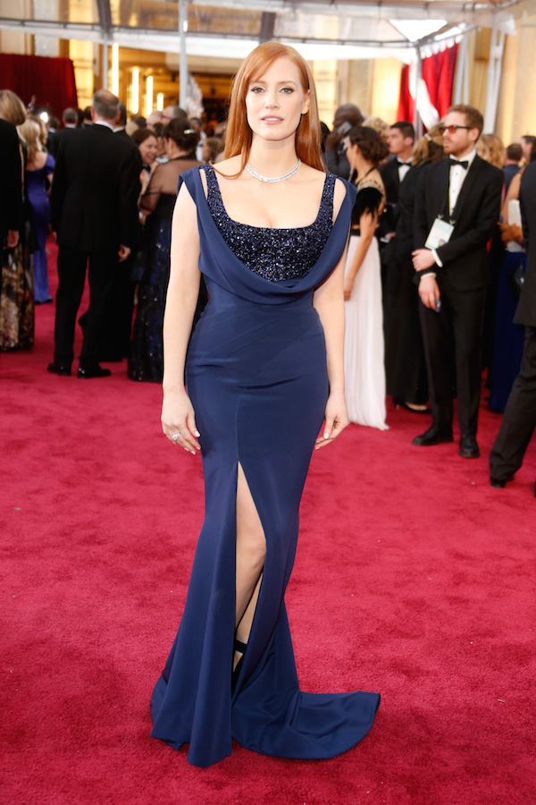 Jessica Chastain in Givenchy OScars 2015