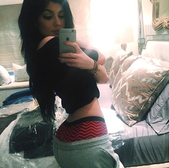 Kylie Jenner belfie