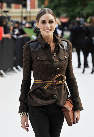 Olivia Palermo ceinture fine