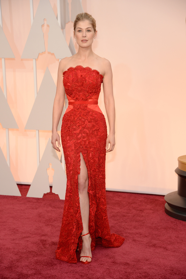 Rosamund Pike in Givenchy oscars 2015