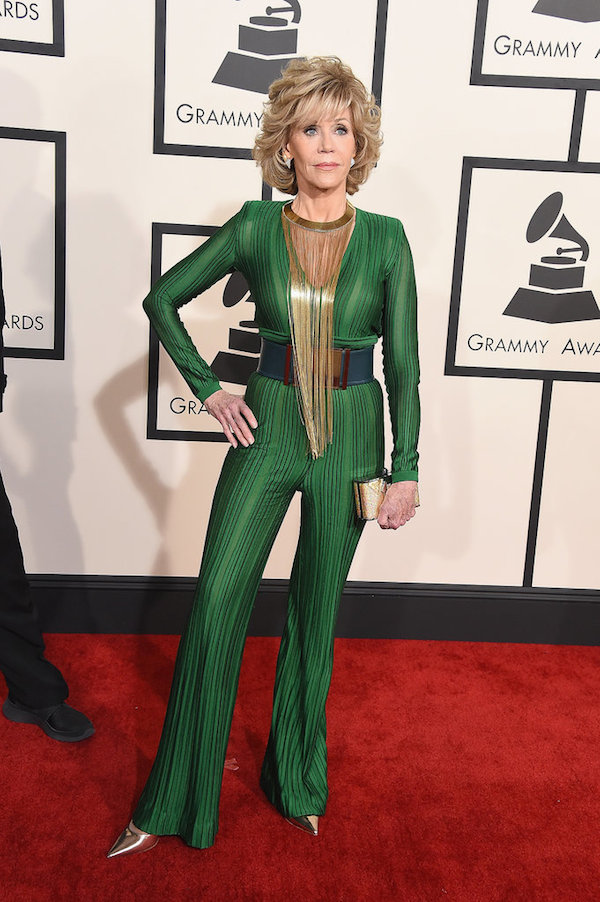 jane fonda balmain grammy awards
