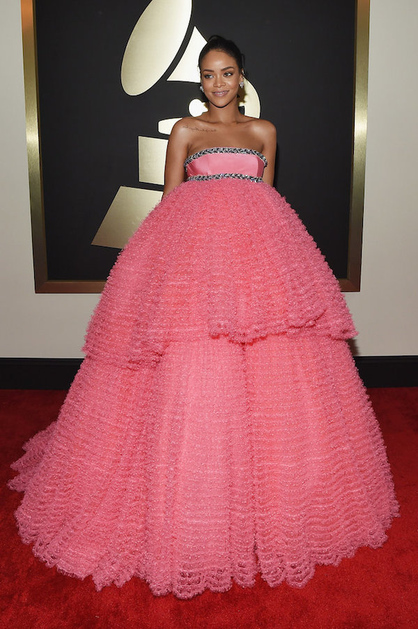 Rihanna giambattista Valli pink dress