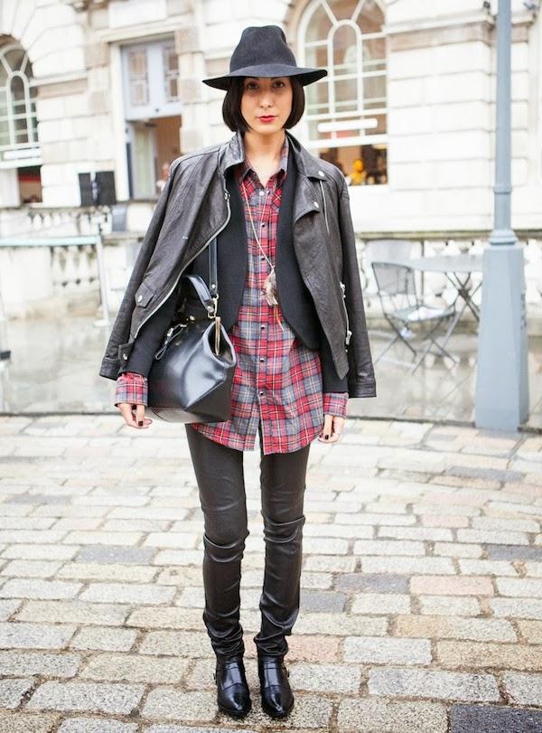 Inspiration Street Style chemise à carreaux