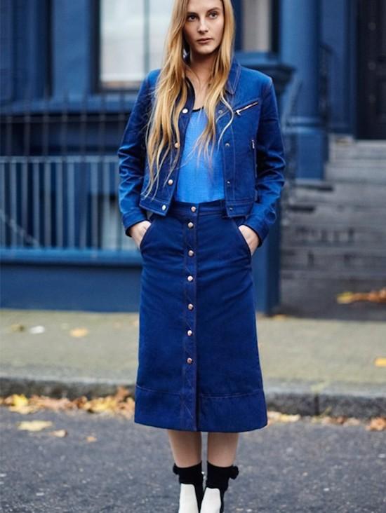 Inspiration Street Style la jupe bouton