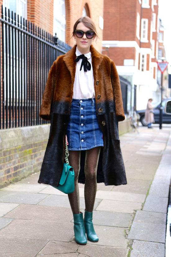 Inspiration Street Style la jupe boutton
