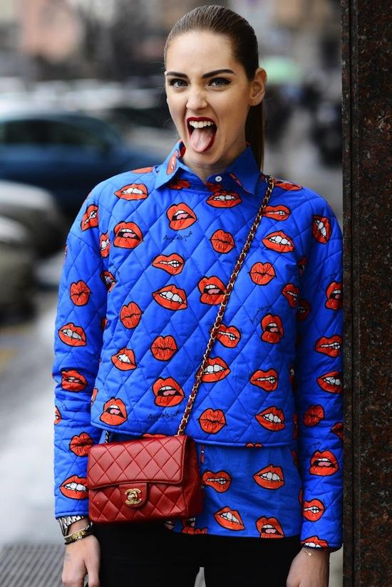 Inspiration street style  imprimé lips