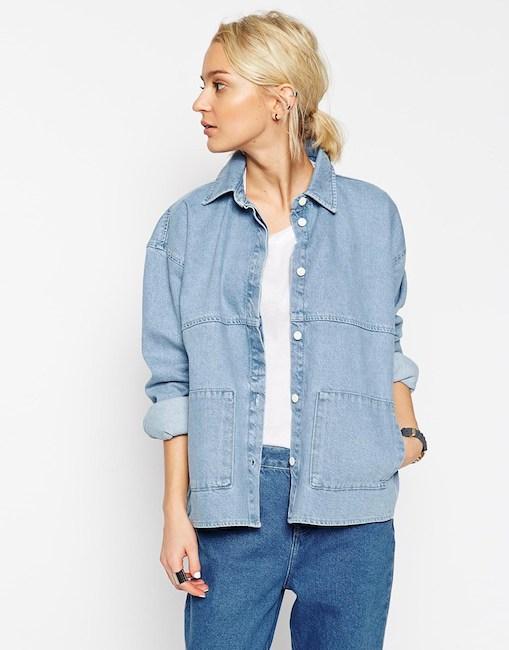 Asos White - Veste en jean