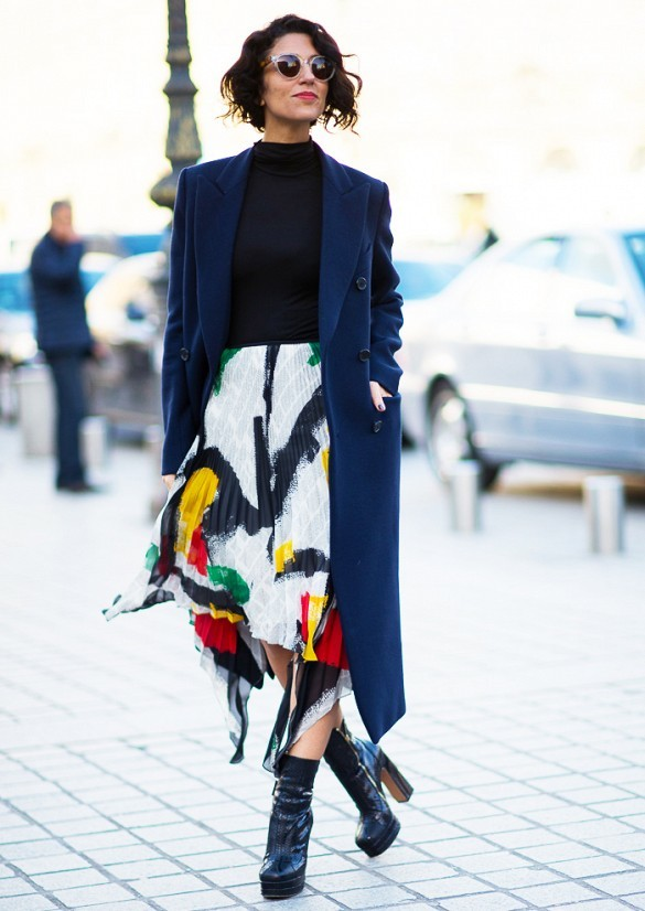 jupe imprimee street style