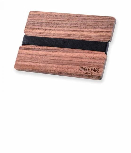 Oncle Pape - Porte-cartes en bois