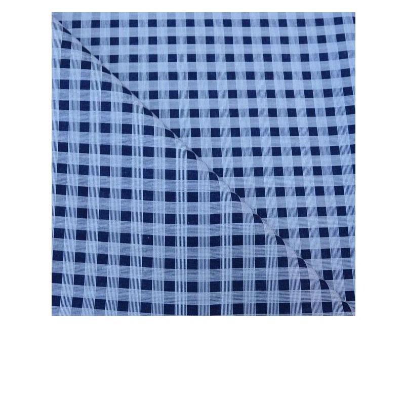 Coton imprimé blanc et bleu - Les coupons de saint pierre