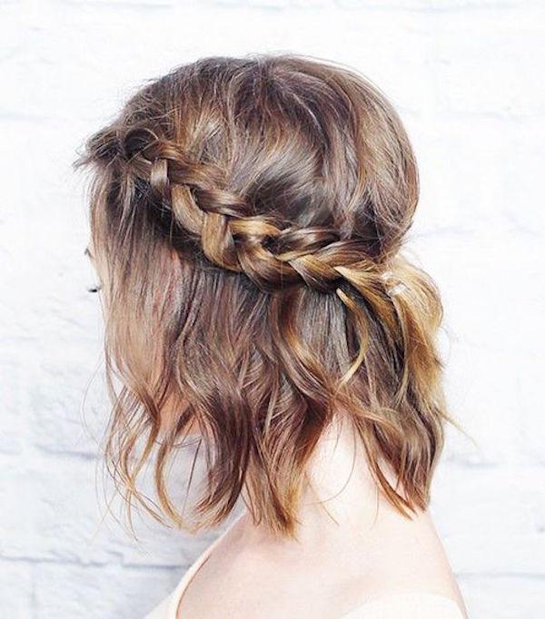 4 Tutos coiffures tressées pour les cheveux courts