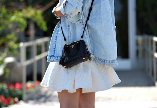 Inspiration Street Style prada mini bag