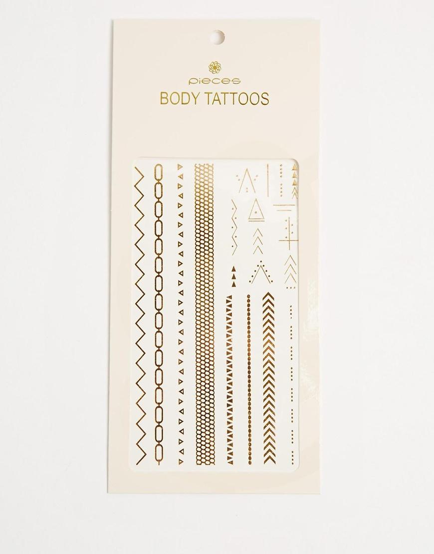 Asos Tatoo métalisé à paillettes or
