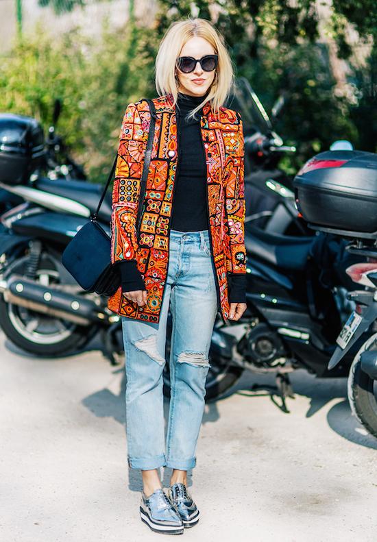 street style escarpins argentés