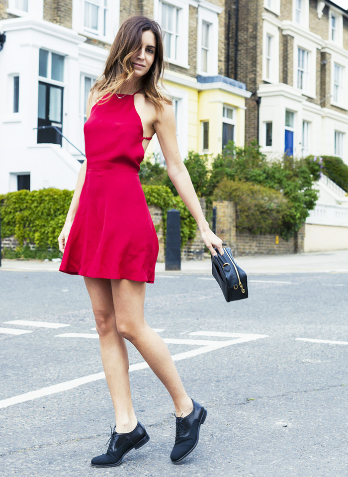 Street Style Robe rouge