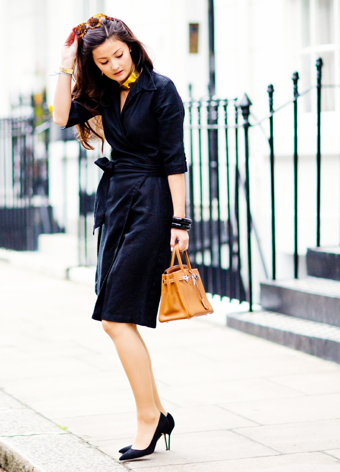 Street Style Robe noire