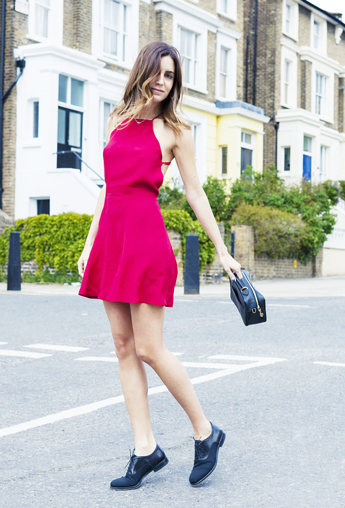 Red Dress Street Style