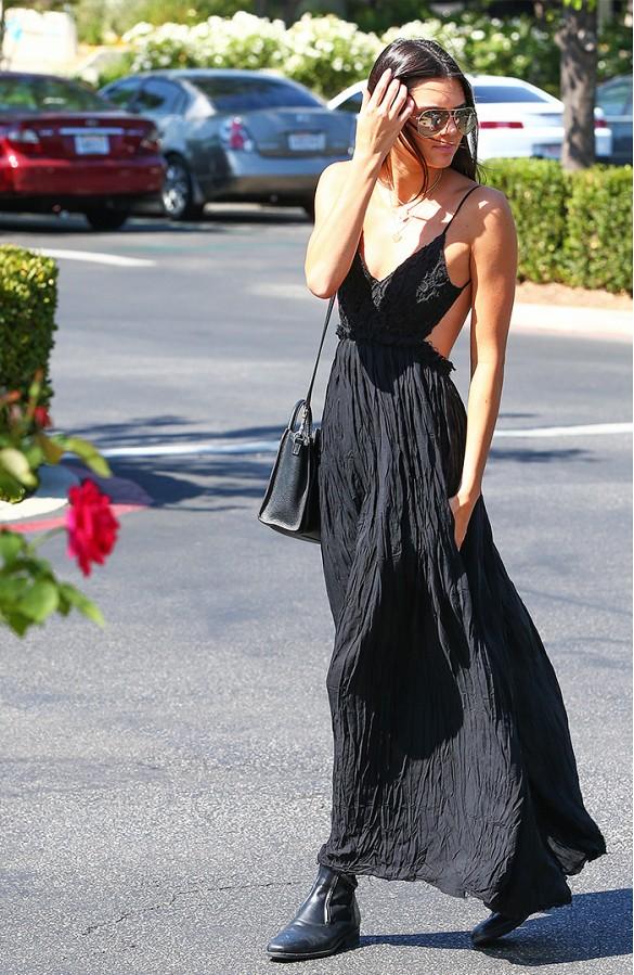 Street style robe longue