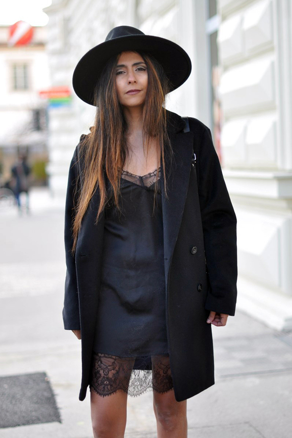 Street Style Nuisette Noire chapeau