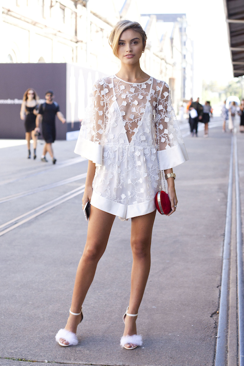 dentelle blanche streetstyle