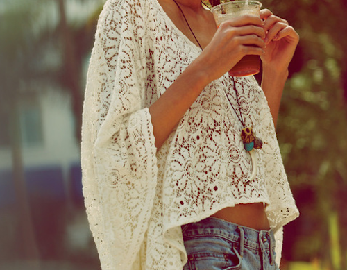 hippie chic white lace