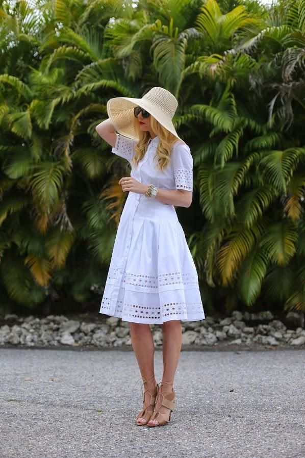 capeline en paille - robe blanche pour l'été