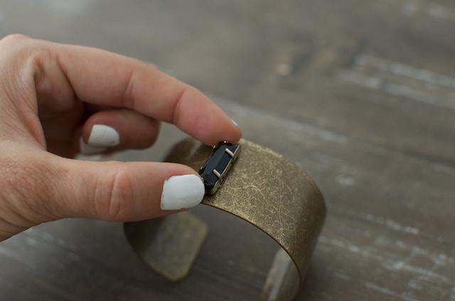 diy bracelet manchette perles