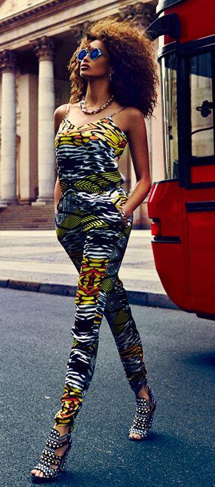 combinaison pantalon sauvage été multicolore