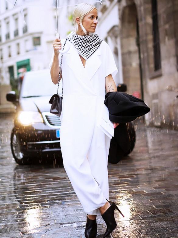 combi-pantalon blanche