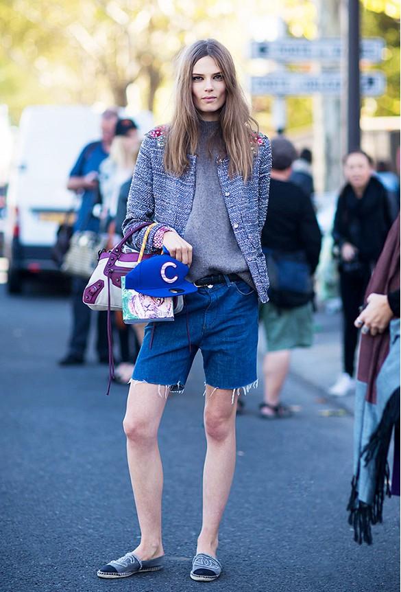 street style short bermuda jean