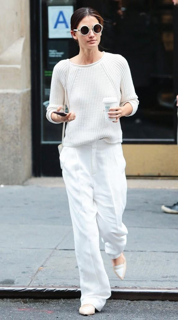 lily aldridge look blanc