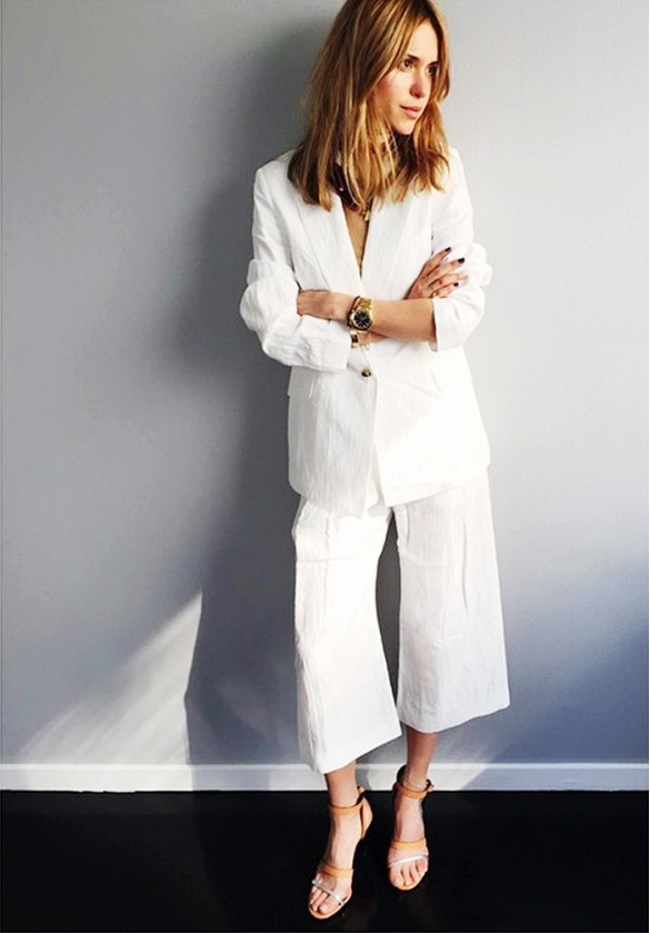 look de pernille jupe culotte blanche