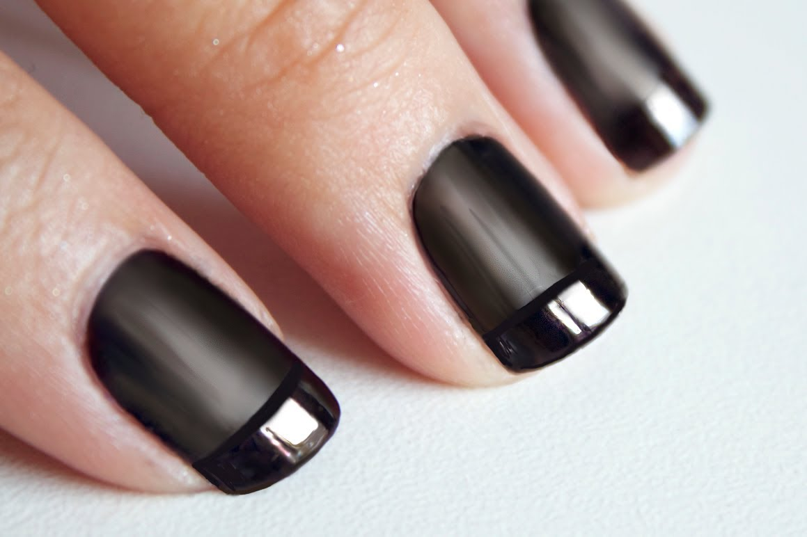 tuto nail art noir bi matière
