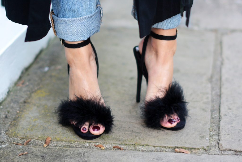 feathers shoes street style black