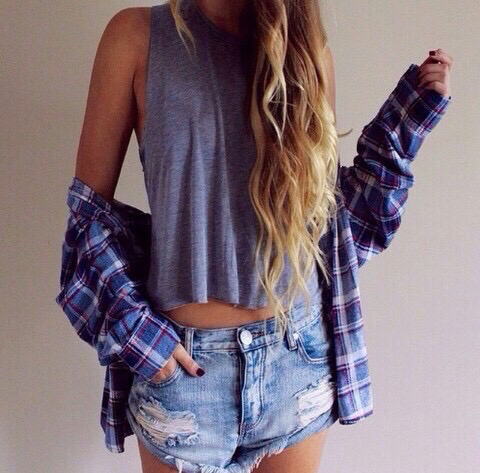denim short street stye