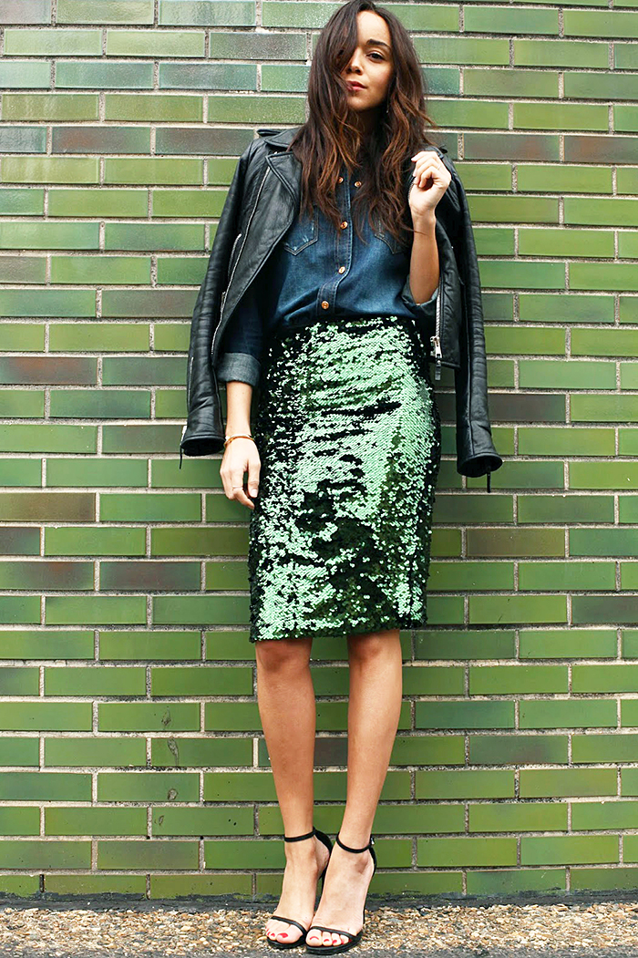 Ring My Bell jupe a sequin street style