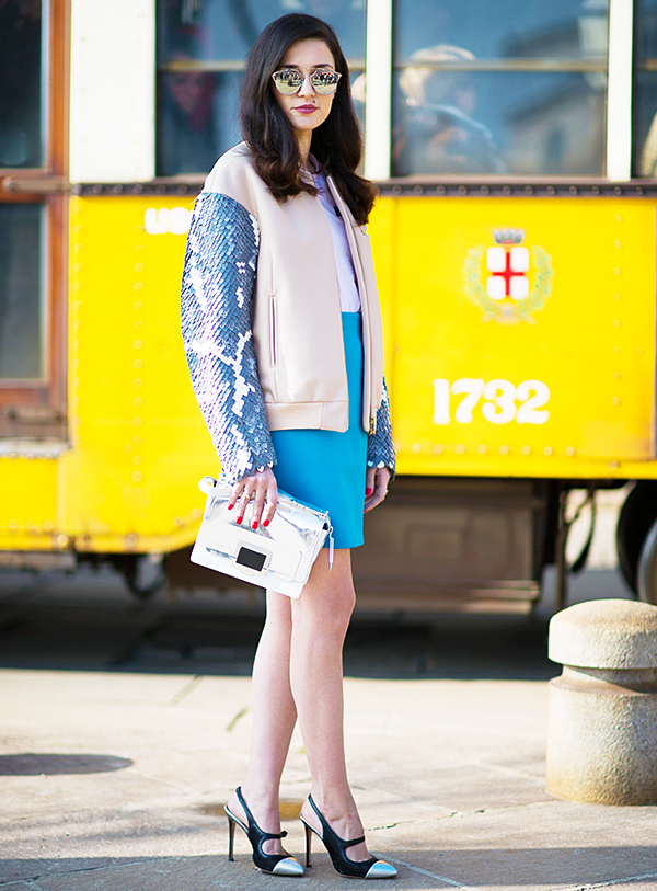 Gastro Chic street style sequin jacket