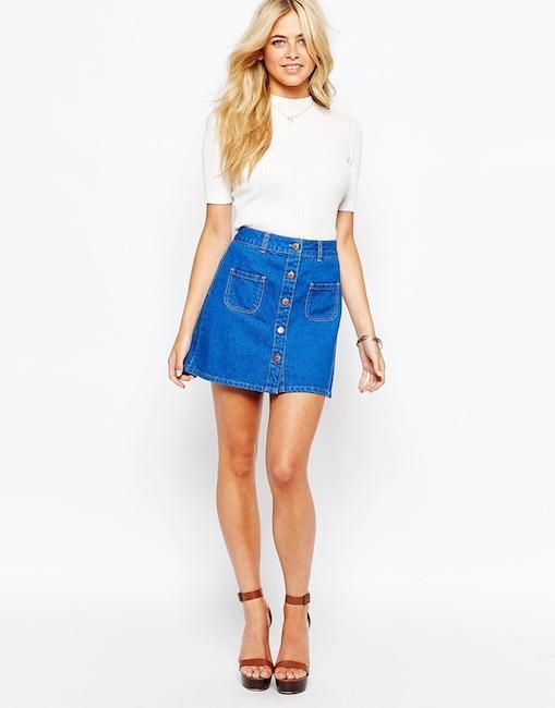 Fashion Union - Jupe en jean