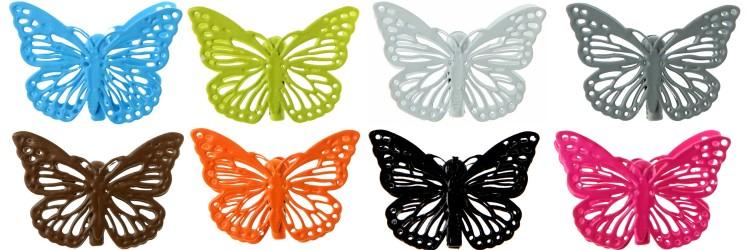 barettes papillon années 90