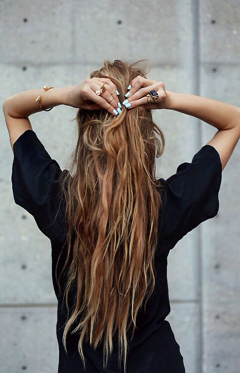 long hair girl style