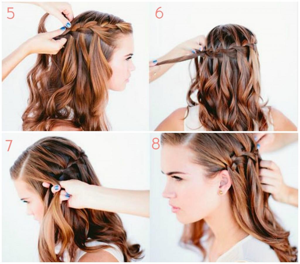 tuto waterfall braid