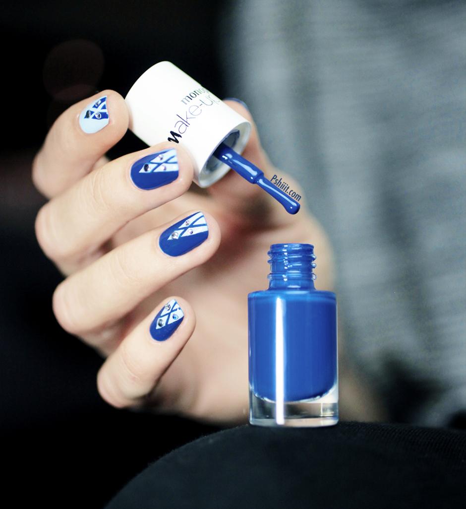 Le nail art de la semaine #2 : Du bleu et du blanc sur vos ongles